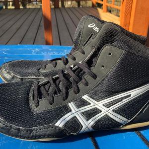 Asics Matflex Black Wrestling Shoes Men Size 8.5